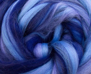 New! Merino blended wool roving , 4 oz , Northern Lights Collection , color Typhoon