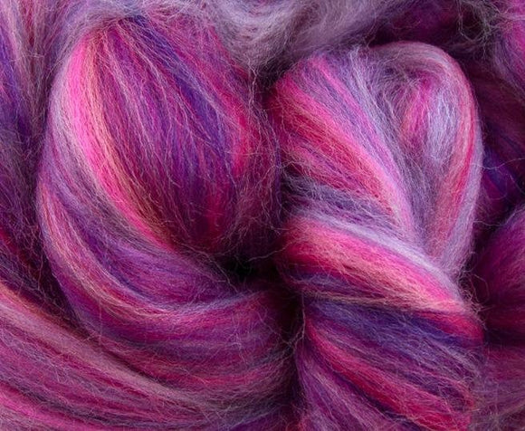 New! Merino blended wool roving , 4 oz , Northern Lights Collection , color Whisper