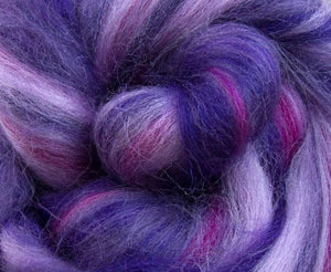 New! Merino blended wool roving , 4 oz , Northern Lights Collection , color Heavenly