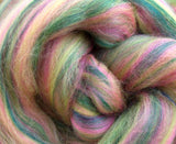 New! Blended  merino / Bamboo wool roving,  2oz or 4oz, color: Hickory Dickory