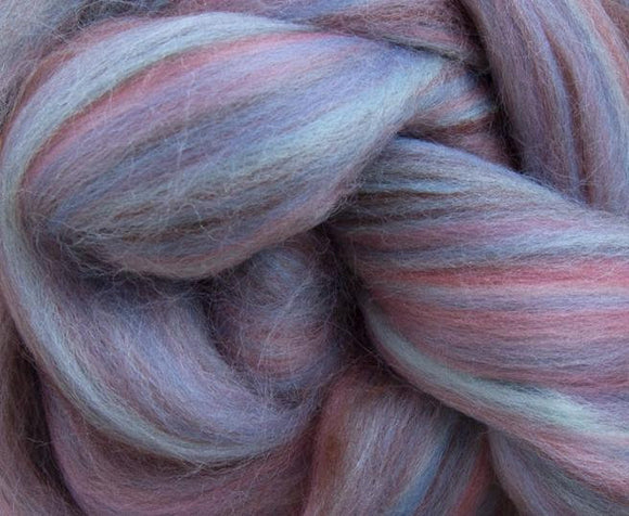 New! Blended  merino / Bamboo wool roving,  2oz or 4oz, color: Humpty Dumpty