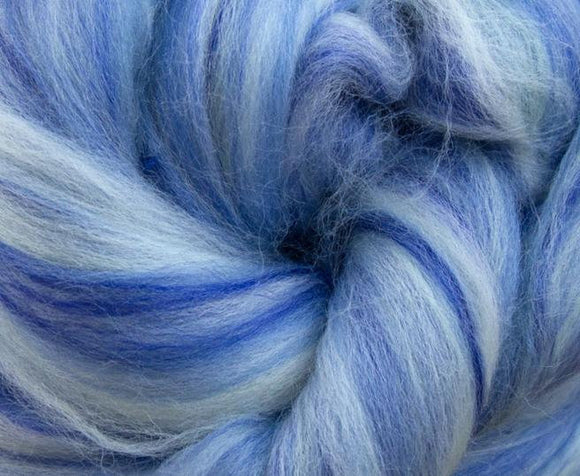 New! Blended  merino / Bamboo wool roving,  2oz or 4oz, color: Tweedledee