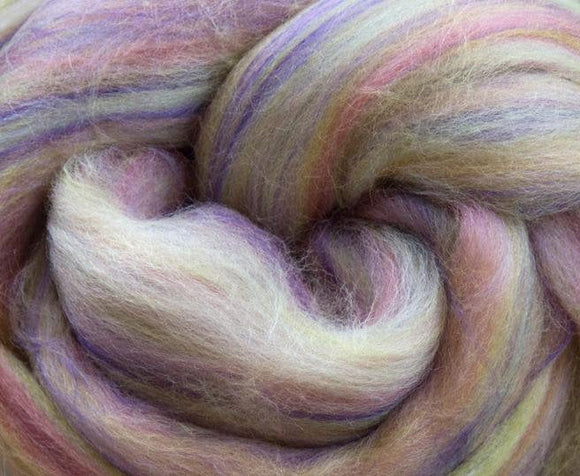 New! Blended  merino / Bamboo wool roving,  2oz or 4oz, color: Itsy Bitsy