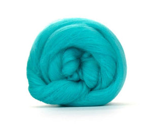 SALE! Superfine Merino 64s Wool Roving , Color: Spearmint