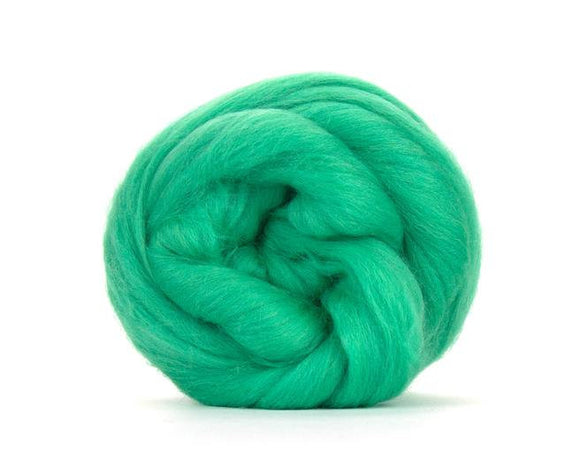 SALE! Superfine Merino 64s Wool Roving , Color: Mint 2