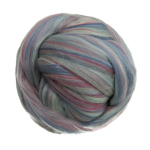 Superfine merino wool roving 19 microns , 2 or4 oz,color blend (Atmosphere)