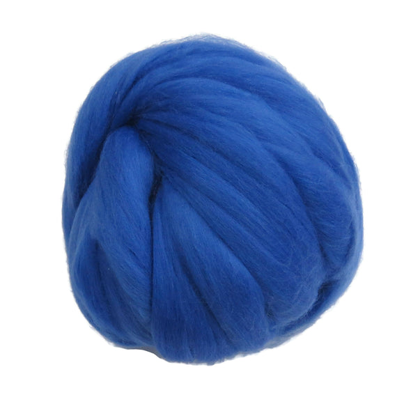 Merino / Silk Roving, color: ( Dream ) - Beautiful Cool Tone Mulberry Wool Silk Blend Fiber for Spinning & Felting
