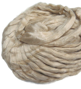 Natural Tussah Silk Roving, undyed, 1oz or 4oz