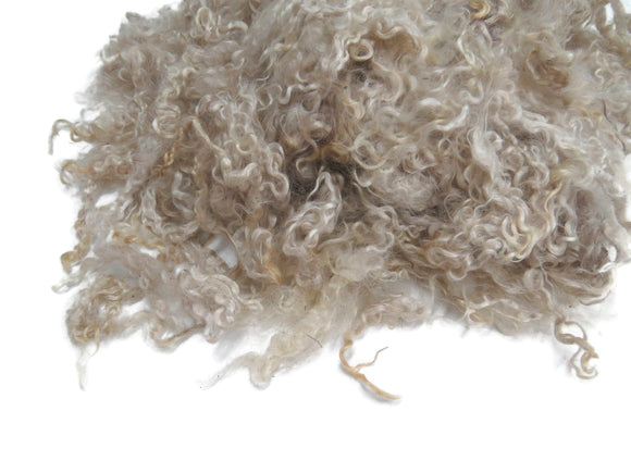 1oz,  Premium First clip Kid Mohair wool locks , color: Blond , LS-11