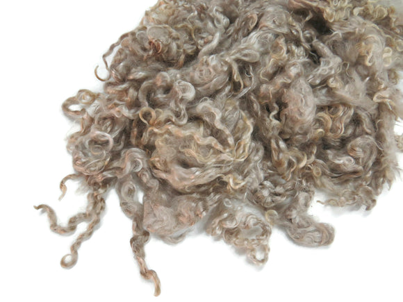 1oz, Exquisite Spring Kid Mohair wool locks , color Reddish blond,  LS-3