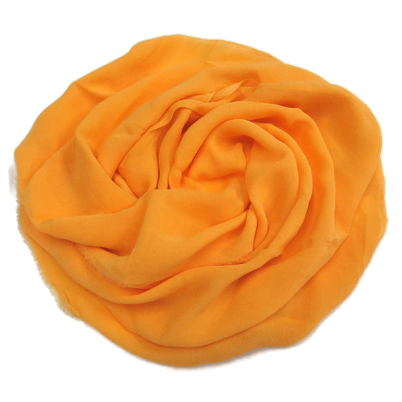 Silk chiffon fabric scarf for nuno felting color: color Yolk  (CS-11)