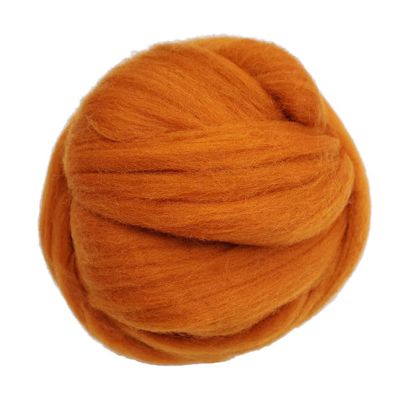 SALE! 21.5mic Merino Wool Roving , Color: Pumpkin Spice
