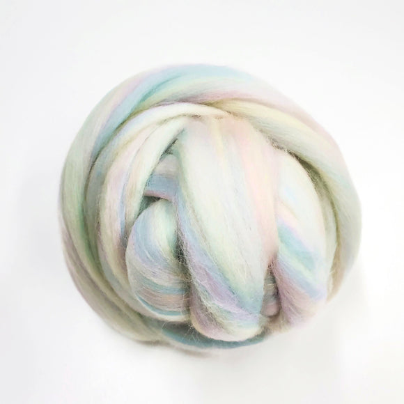 SALE! 21.5mic Merino Wool Roving , Color: Sorbet