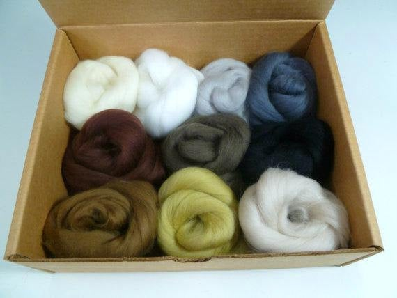 Felters Palette superfine merino wool, 2 oz,color: Neutrals