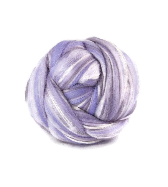 Superfine merino wool roving 19 microns 4 oz,color blend (Provence)