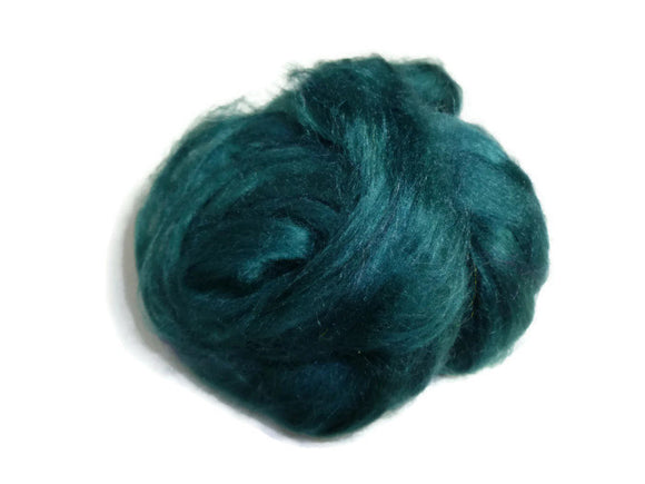 1 oz  Silk Roving ,color Ireland