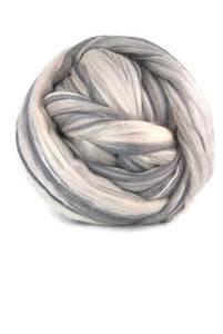 Sale Superfine merino wool roving 19 microns,4 oz, Color: Fumo