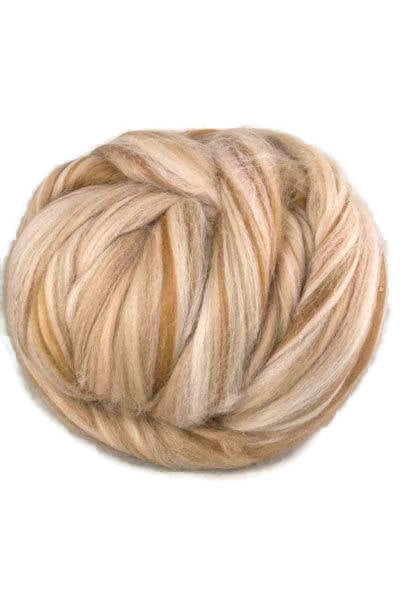 Superfine merino wool roving 19 microns 4 oz,color blend (Boudoir)