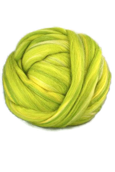 Superfine merino roving 19 microns ,colour blend (Parrot)
