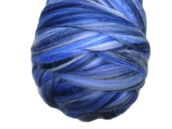 Superfine Merino roving 19 microns ,colour blend (Ocean)
