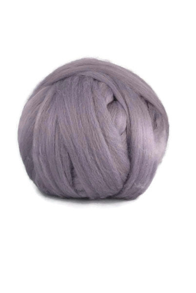 Super-fine merino wool roving, 19 microns ,Colour: Fog