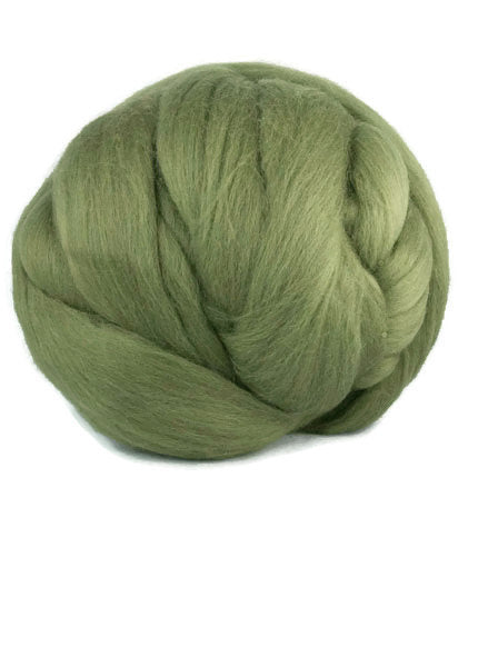Merino super-fine wool roving,19 microns, color: Musk