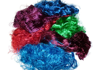 Banana Silk Fiber,1 oz, Mix (Cold Colours)