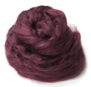 1 oz  Tussah Silk Roving ,color Purple