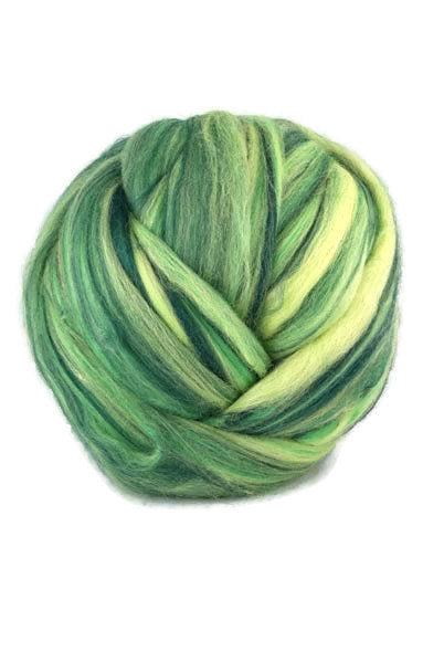 Superfine merino wool roving 19 microns 4 oz,color blend (Brasil)