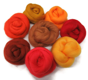 Felters Palette superfine merino wool, 2 oz,color: Indian Summer