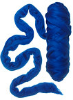 Merino wool roving 19 microns, Color: Brilliant Blue