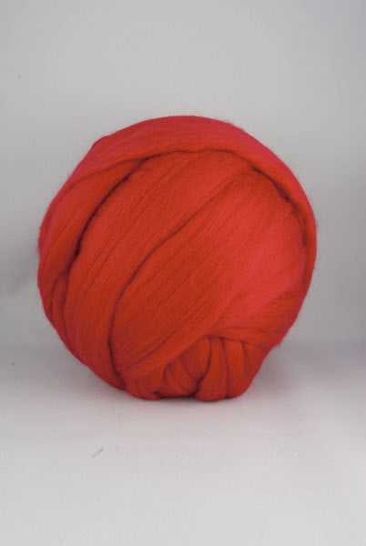 Superfine merino wool roving 19 microns,  ,Color: Passion