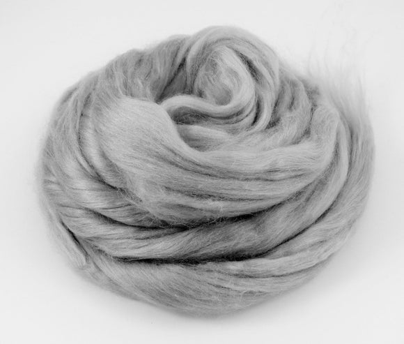 1 oz  Silk Roving ,color, Cloud