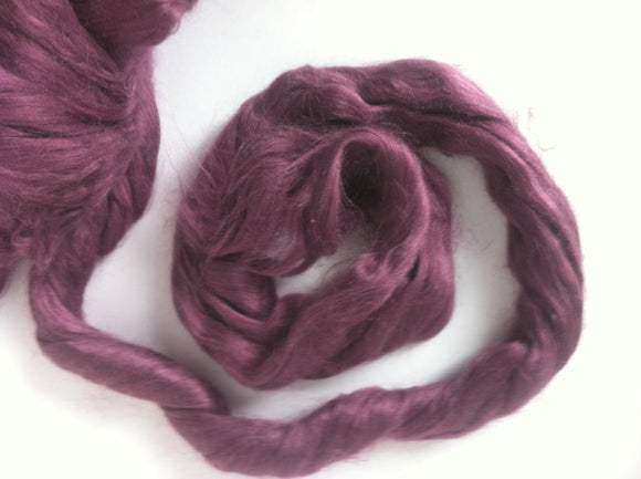 1 oz  Silk Roving,color Onion