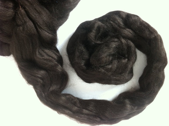 Tussah Silk roving ,color Coffee