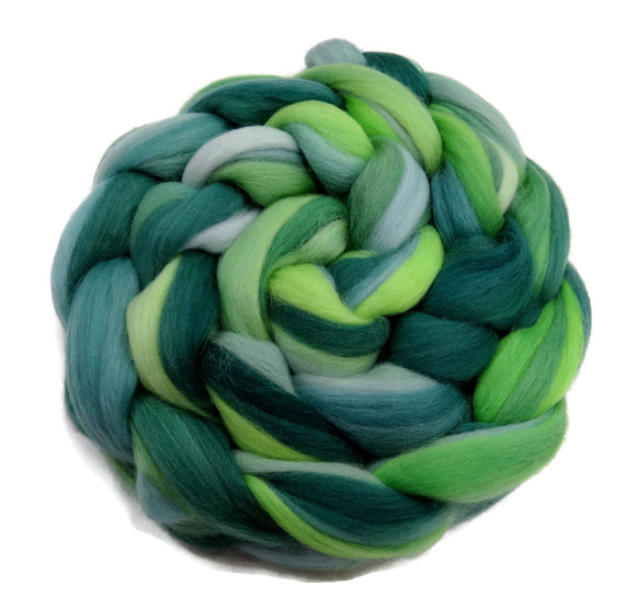 Superfine merino wool roving 19 microns 4 oz,Tempera Collection ( Giverny)