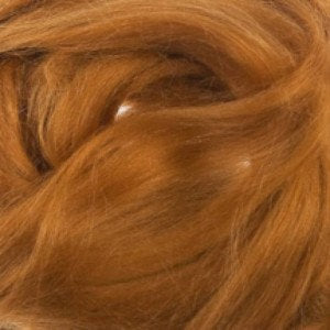 Ramie Roving : Ramie fibers in tones of Cinnamon