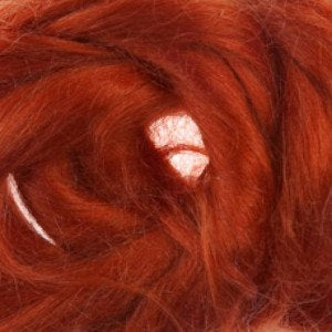 Ramie Roving : Ramie fibers in tones of Rust