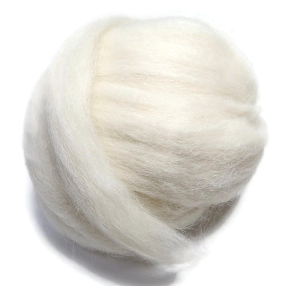 New! Baby Alpaca wool roving Natural White