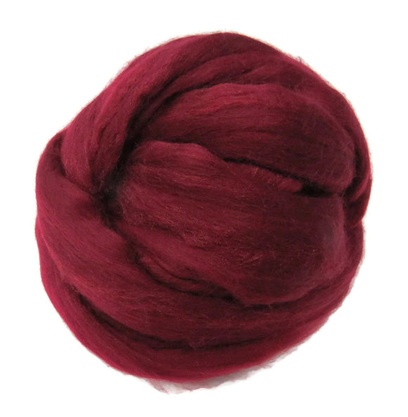 Merino / Silk  Roving, ( Soft Fruit )