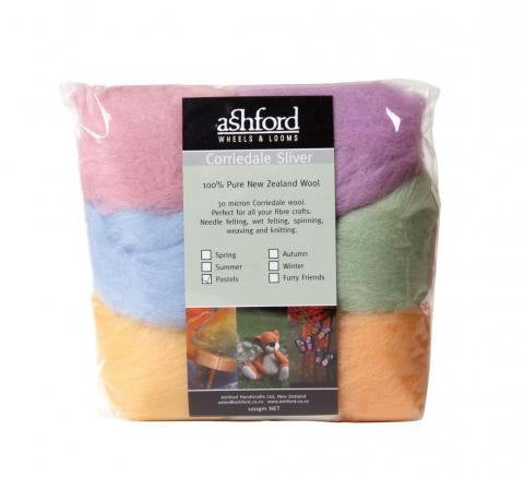 Needle felting wool palette kit, 3.5 oz, Color: Pastels