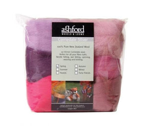 Needle felting wool palette kit, 3.5 oz, Color: Spring Mix