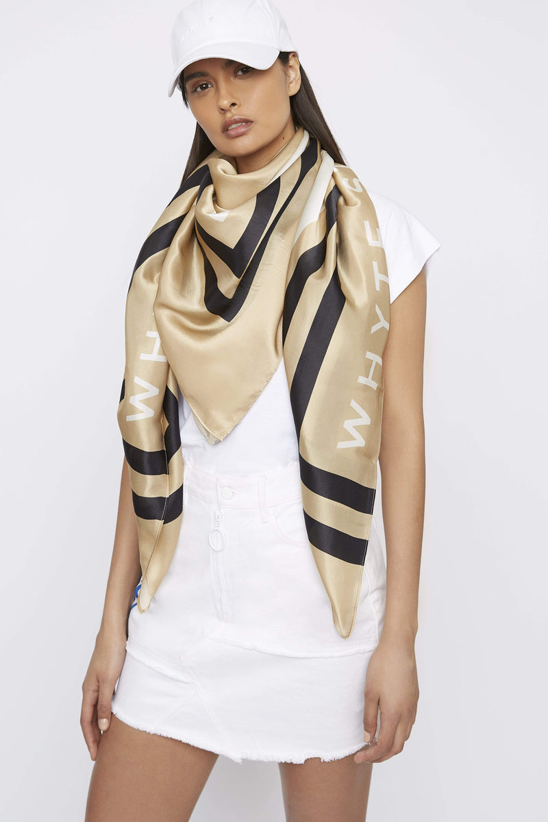 "THE ""HIGH-SIDE"" LARGE SILK SCARF - Accessory - Whyte Studio"
