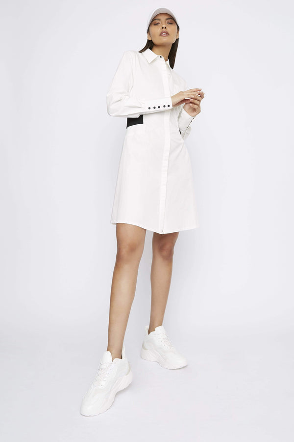 "THE ""DUTY"" SHIRT DRESS - Dress - Whyte Studio"