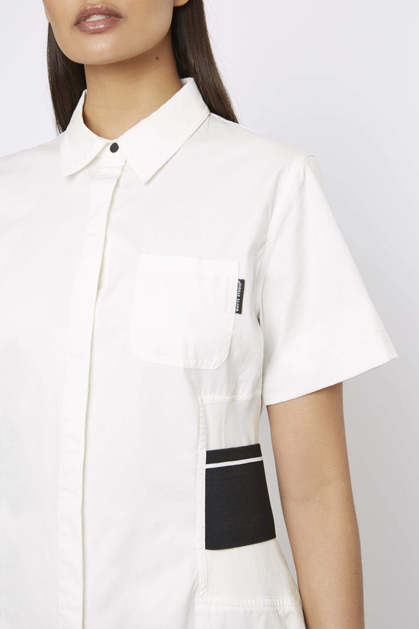 "THE ""DUTY"" SHORT SLEEVE SHIRT DRESS - Whyte Studio"