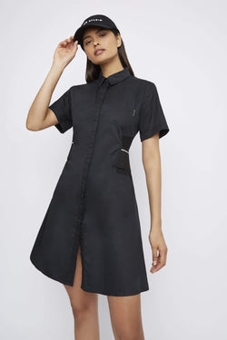 "THE ""DUTY"" SHORT SLEEVE SHIRT DRESS - Dress - Whyte Studio"