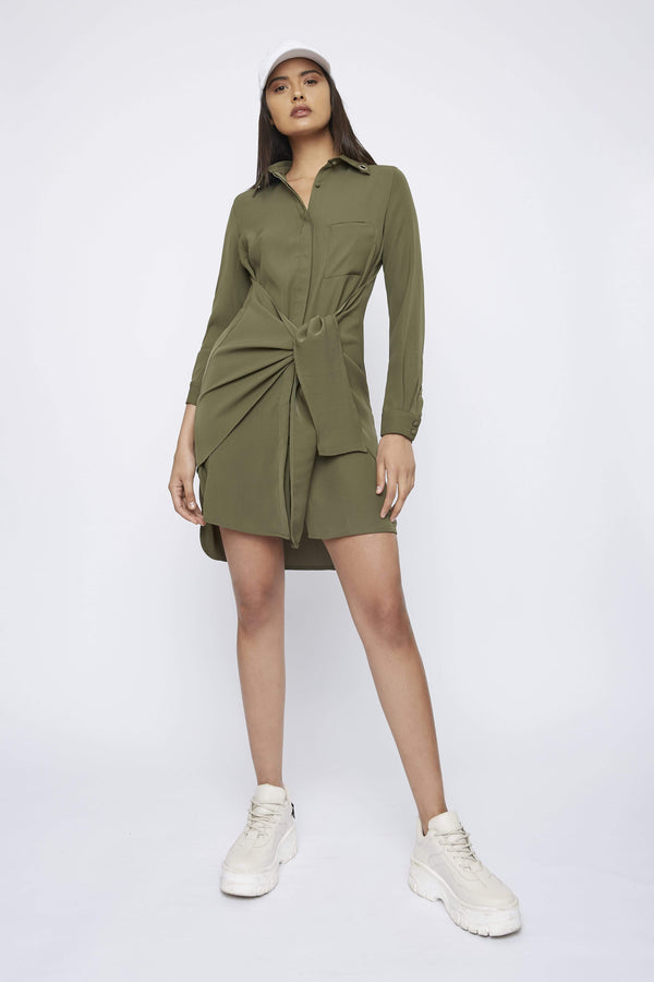 "THE ""SPOKE"" SHIRT DRESS - Dress - Whyte Studio"