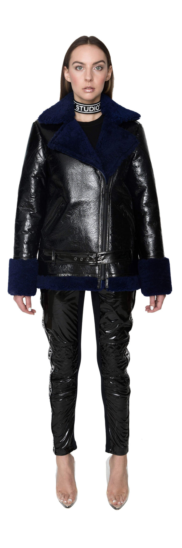 "THE ""STAMINA"" LEATHER SHEARLING BIKER JACKET - Jacket - Whyte Studio"