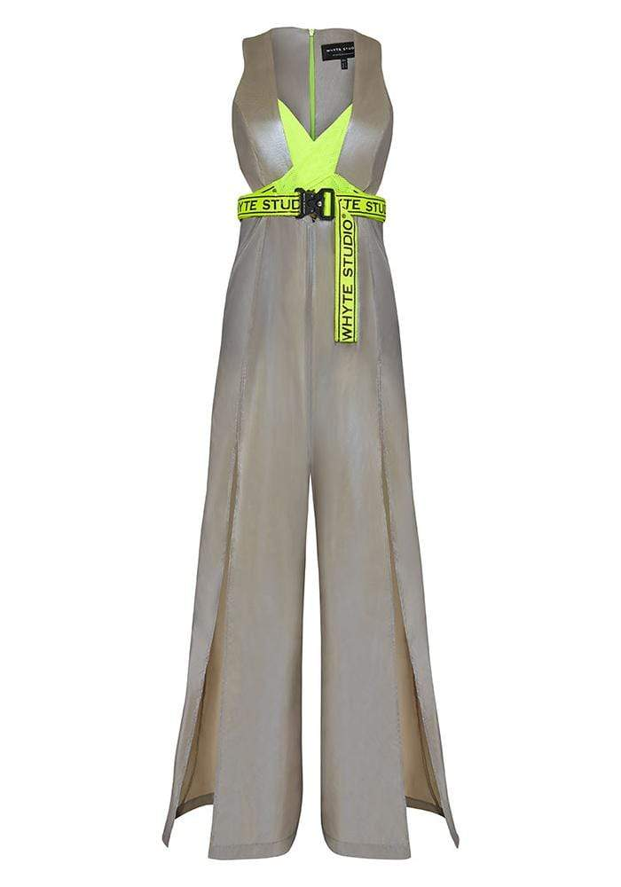 "THE ""SHINY AF"" WIDE LEG JUMPSUIT - Jumpsuit - Whyte Studio"