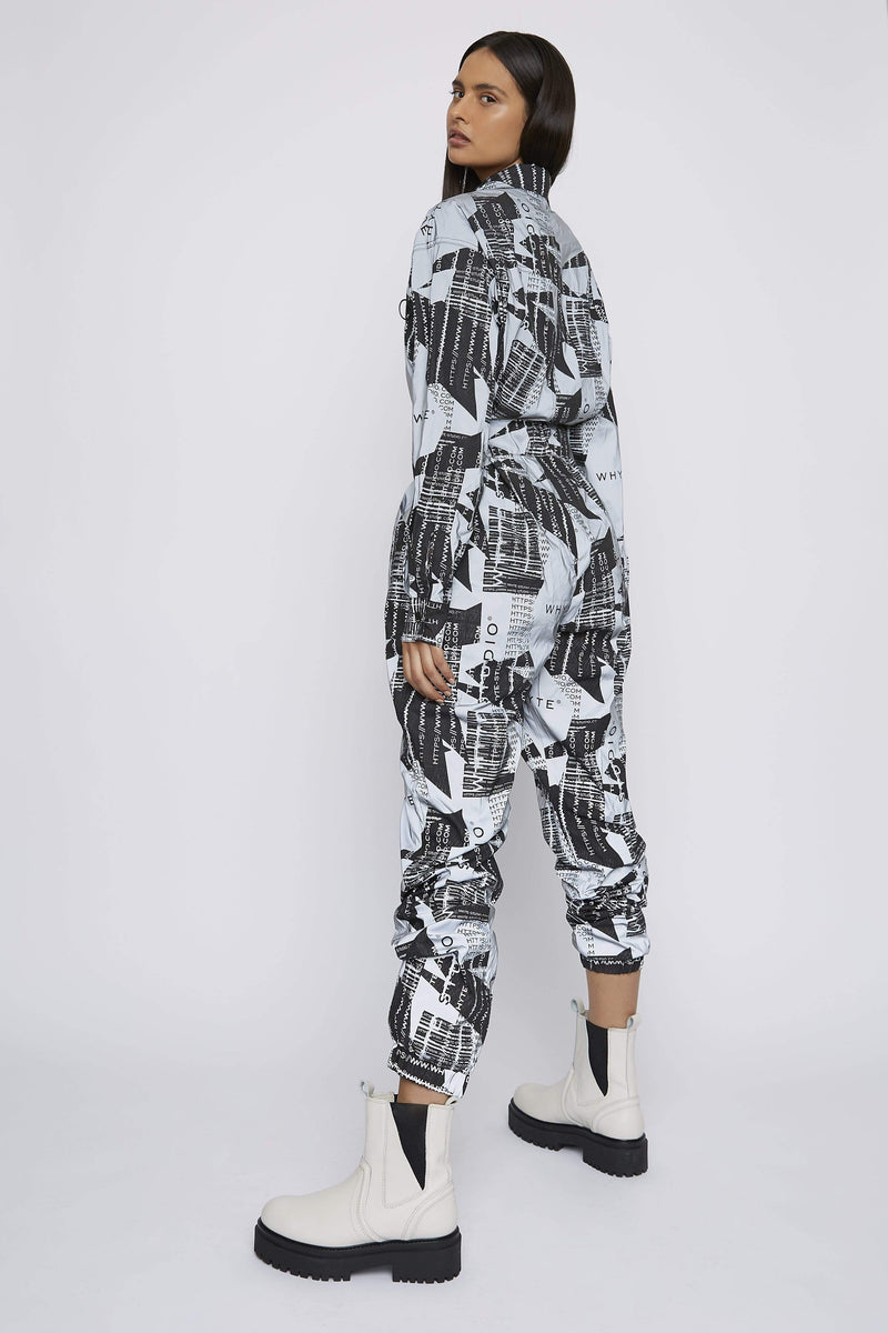 THE REFLECTIVE 'JOURNEY' LONG SLEEVE JUMPSUIT - Jumpsuit - Whyte Studio